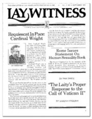 Lay Witness Newsletter